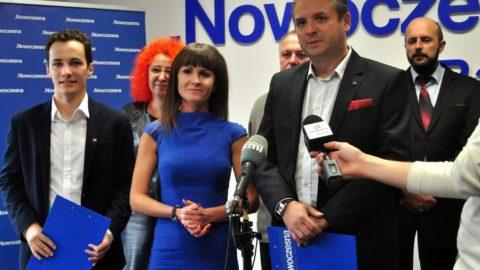 Konferencja prasowa dotycząca stanu infrastruktury pieszej w Radomiu.