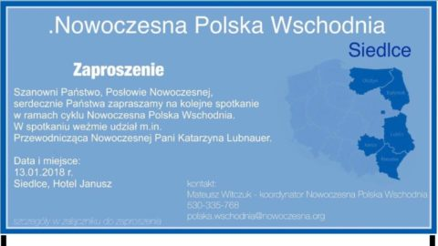 """Spotkanie z cyklu """".Nowoczesna Polska Wschodnia"""" w Siedlcach."""