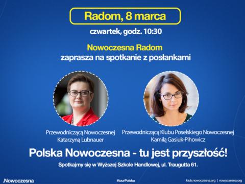 Wykład otwarty z Katarzyną Lubnauer i Kamilą Gasiuk-Pihowicz w Radomiu.