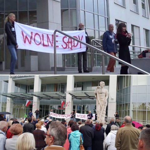 Protest pod sądem w Radomiu | #WolneSądy, #WolneWybory, #WolnaPolska