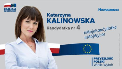 Katarzyna Kalinowska kandydatką do Parlamentu Europejskiego z listy Koalicji Europejskiej.